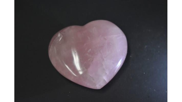 Coeur de quartz rose